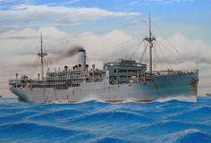 Nodriza de Submarinos y Mercante armado Santos Maru 1925, hundido en Luzón 1944