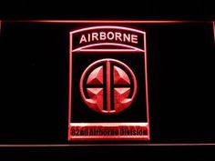 US Army 82nd Airborne Division LED Neon Sign
