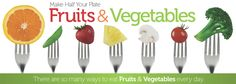 Liven up your meals with #vegetables and #fruits. 10 tips from #MyPlate