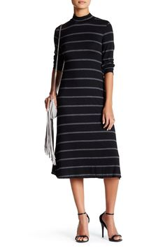 Striped Funnel Neck Dress by Max Studio on @nordstrom_rack