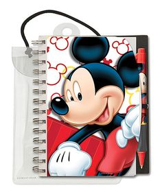 Another great find on #zulily! Mickey Mouse Pen & Notebook Set #zulilyfinds