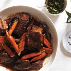 Red Wine–Braised Short Ribs with Carrots Recipe