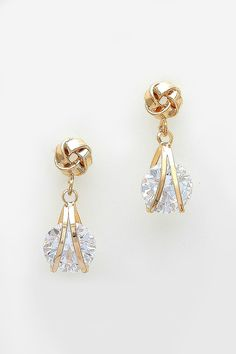 Love Knot Earrings in Gold