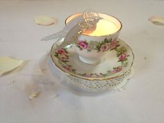 Beautiful candle idea, Tea cup, Bird, Candle