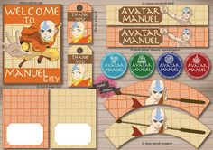 The Last Airbender / Avatar Aang Custom Party Printables Pack    Please note that this listing is for DIGITAL items only, nothing will be