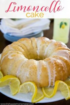 A light, fluffy bundt cake flavored with Italian Limoncello. This is the perfect recipe to make for company!
