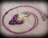 Items similar to Macrame necklace, tribal jewelry, festival fashion, goddess necklace, bohemian jewelry, brass wire necklace, hippie necklace, gypsy jewelry on Etsy