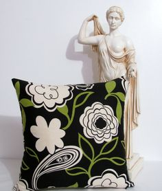 Modern Decorative Pillow  Cover Black White by supplierofdreams, $20.00