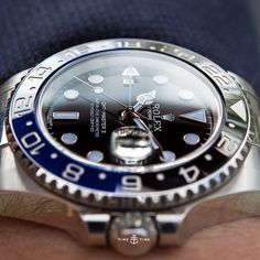 Another masterful 'edge of the earth' shot of the Rolex GMT Master II BLNR from Basel 2013. It was a good year for the Rolex. Taken by our shooter KD @leicashot - follow him for shots that will end you. ️ For the whole luscious shoot click the link