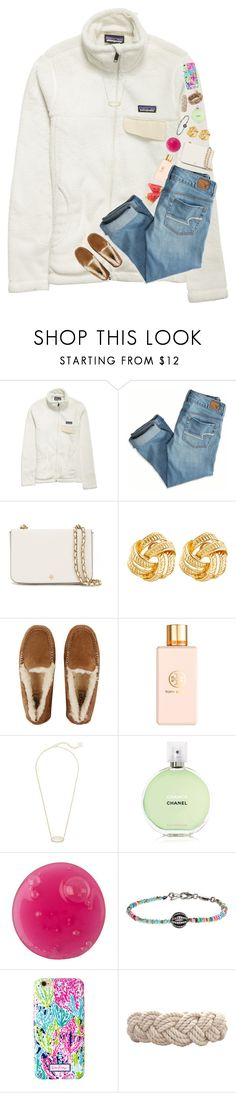 """love ya 😘"" by ellalillyy ❤ liked on Polyvore featuring Patagonia, American Eagle Outfitters, Tory Burch, Susan Shaw, UGG, Kendra Scott, Chanel, Bettina Duncan, Lilly Pulitzer and Swell"