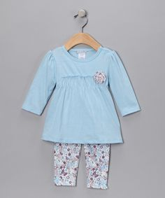 Tunic and leggings for baby girl...so cute!