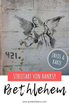 Banksy in Bethlehem - Streetart und Murals in Palästina Wayne Thiebaud, Tromso, Bethlehem, Banksy Art, Auguste Rodin, Color Wheels, Albrecht Durer, Oil Pastels, Keith Haring