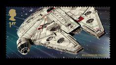 Millennium Falcon stamp