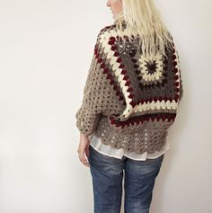 Afghan Crochet Cardigan by LoveandKnit on Etsy
