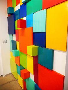Odyssey of Ideas | Custom 3D Wall Art Installation for Spellbound Inc | Original Art by rosemary pierce modern art | www.rosemarypiercemodernart.com