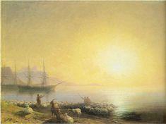Aivazovsky- Bathing of the sheep
