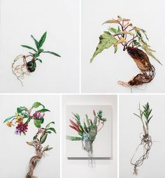 Artist's powerful embroidered landscapes capture forces of nature : TreeHugger