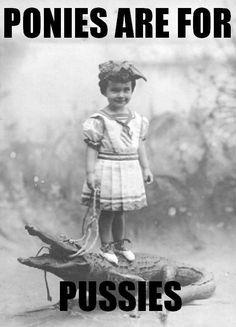 She's a badass on a gator.