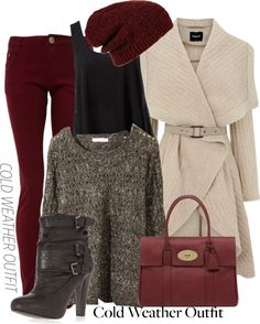 """""""Cold Weather Outfit"""" by wiferichie ❤ liked on Polyvore"""