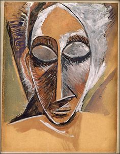 """Private collection © 2005 estate of Pablo Picasso/Artists Rights Society (ARS), New York; courtesy of Museum of Fine Arts, Boston""""Head of a Woman,"""" a 1907 work by Picasso."""