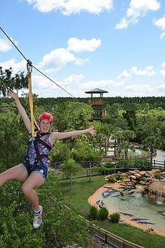 Screamin' Gator Zip Line at Gatorland Orlando, FL - Kids events & things to do with your children