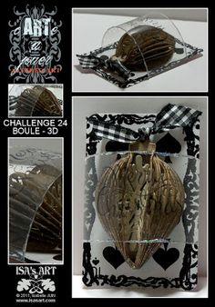 ISA'sART: CARTE A JOUER - CHALLENGE 24 - BOULE - 3D
