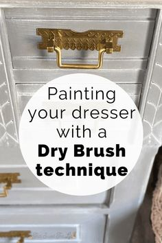 This gray and white painted dresser was such a treat to create! Is this technique right for your project? Here I share with you the story and the entire process, including how to dry brush! Read to see if it's the perfect plan for your piece. Gray Painted Dressers, Refurbished Dressers, Gray Painted Furniture, Grey Furniture, Paint Furniture, Furniture Makeover, Furniture Ideas, Dry Brush Painting, Painting Tips