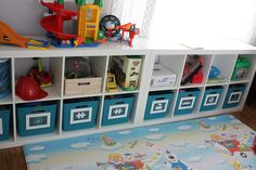 Make labels for the buckets in David's room for easy toy sorting