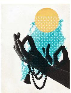 yoga collage.