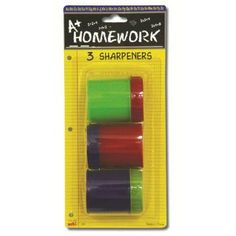 Pencil Sharpeners - large - 3 pack Case Pack 48