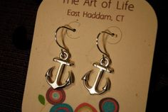 SALE Silver Anchor Earrings was 1499 by ArtofLifebyLaurenAnn, $9.99