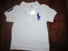 f811ecdd075 NEW RALPH LAUREN BABY BOY 12 MONTHS POLO SHIRT WHITE BIG PONY NWT   PoloRalphLauren