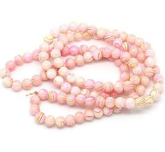 20 Pastel Glass Beads 8mm  Tones of Ivory by BohemianFindings, $1.95