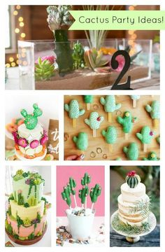 Cactus Party Ideas For Cinco De Mayo {And Everything Else!} Who loves cactus? We have rounded up our favorite cactus party ideas, from invitations to cakes, that are sure to make your heart patter. Birthday Celebration, Birthday Party Themes, 2nd Birthday, Birthday Ideas, Cactus Cake, Festa Party, Mexican Party, Baby Party, Holiday Parties