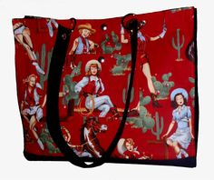 Pin-Up Cow Girls!  All purpose tote $90.00