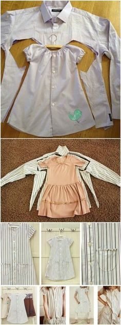 upcycle clothes for kids \ upcycle clothes . upcycle clothes no sew . upcycle clothes that dont fit . upcycle clothes for kids Sewing Projects For Kids, Sewing For Kids, Baby Sewing, Projects To Try, Clothes Crafts, Sewing Clothes, Dress Clothes, Sewing Toys, Dress Sewing