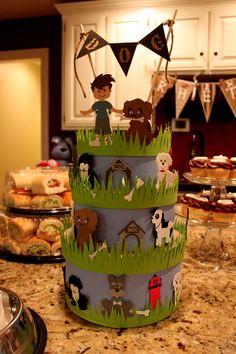 Puppy Dog Birthday Party Centerpiece Cake