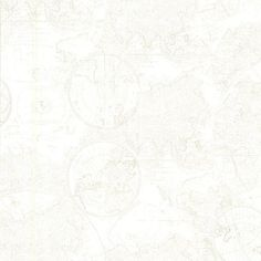 Cartography Off-White Vintage World Map Wallpaper