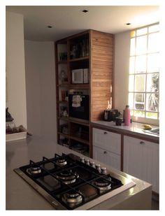 Cocina, Microcemento y pinotea