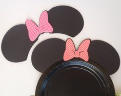 12 DIY Mickey or Minnie Mouse Ears Die Cuts von FeistyFarmersWife