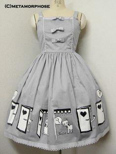 Metamorphose temps de fille / Jumper Skirt / Cat Print JSK