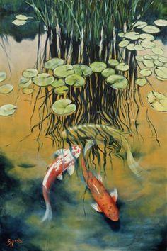 Koi Fish Pond.