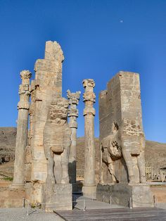 All Nations Gate at Persepolis. The function of the gate was not only to allow the entry of the visitors, but was also to separate the people according to their social importance. The gate was a square hall with 3 doors. The few nobles and princes allowed to enter the royal palace were directed through the south door to a court opening on Darius's audience hall or to the Tripylon palace, while the others went thru the east door on an alley leading to another gate and Xerxes's audience hall.