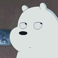 ice bear ~ tired of shit Ice Bear We Bare Bears, 3 Bears, Bear Cartoon, Cartoon Icons, Bear Wallpaper, Disney Wallpaper, Bear Meme, Tumblr Boy, Mood Tumblr