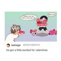 Haikyuu!! Valentine day sweets for my sweets