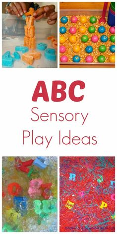 15 ABC Sensory Play Ideas. Repinned by SOS Inc. Resources pinterest.com/sostherapy/.