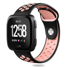 (Sport Silicone Band for Fitbit Versa. Fitbit Versa Smart watch Device is not included. - One Size fit all. - Soft and comfortable, perfect for work or travel. Fitbit Strap, Fitbit Bands, Sport Watches, Cool Watches, Band Workout, Workout Gear, Replacement Watch Bands, Fitness Watch, Shopping