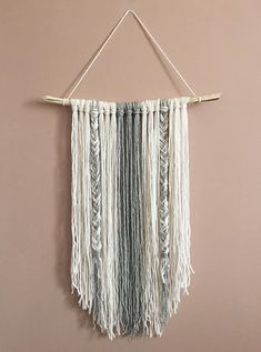 Wall Decor // Bohemian Decor // Yarn Wall Hanging // Home Decor // Handmade // Boho Decor by CristynHome on Etsy Macrame Wall Hanging Diy, Handmade Wall Hanging, Boho Diy, Bohemian Decor, Yarn Wall Art, Macrame Projects, Design Seeds, Contemporary Home Decor, Diy Wall Decor