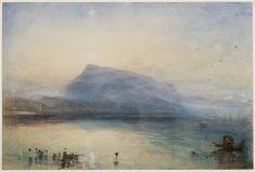 Tate Britain will feature the late work of JMW Turner from Sept. 2014-Jan. 2015 Joseph Mallord William Turner, 'The Blue Rigi, Sunrise' 1842