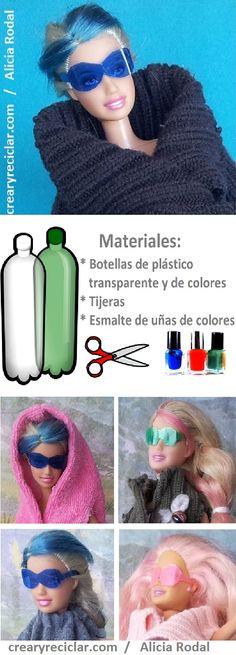 Cómo hacer ropa y complementos de moda para muñecas con reciclaje!!! 2ª parte. http://crearyreciclar.com/?p=988